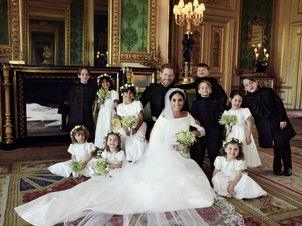 <h4>Prince Harry and Meghan Markle with the children - Alexi Lubomirski</h4>